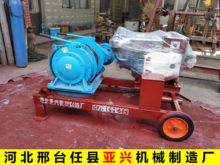 机动拉木头卷扬机(柴油机)每小时能拉多少吨