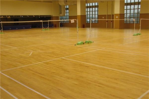 镇安室内羽毛球场运动木地板厂家