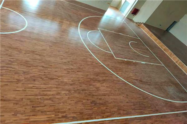 唐县篮球馆22mm专用木地板安装价