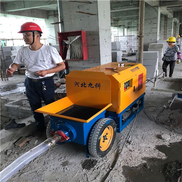 邱县细石混凝土输送泵堵管原因